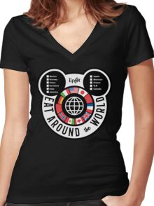 Eat Around the World - EPCOT checklist Women's Fitted V-Neck T-Shirt