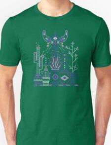 Santa Fe Garden – Blue & Purple Unisex T-Shirt