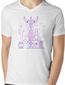 Santa Fe Garden – Blue & Purple Mens V-Neck T-Shirt