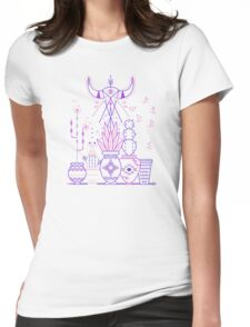 Santa Fe Garden – Blue & Purple Womens Fitted T-Shirt