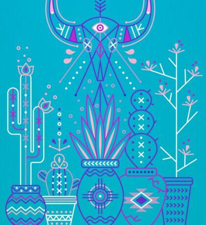 Santa Fe Garden – Blue & Purple Sticker