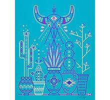 Santa Fe Garden – Blue & Purple Photographic Print