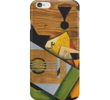 Juan Gris - Still Life With A Guitar. Abstract painting: abstract art, geometric,  Guitar, composition, lines, forms, creative fusion, spot, shape, illusion, fantasy future iPhone Case/Skin
