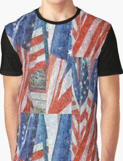 Many Stars and Stripes Graphic T-Shirt