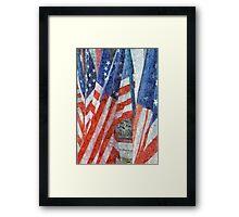 Many Stars and Stripes Framed Print