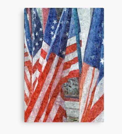 Many Stars and Stripes Canvas Print