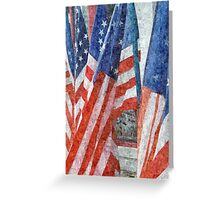 Many Stars and Stripes Greeting Card
