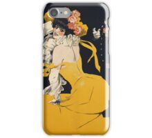 Jules Alexander Grun - Poster Of A Woman In A Yellow Dress. Woman portrait: sensual woman, girly art, female style, pretty women, femine, beautiful dress, cute, love, sexy lady, erotic pose iPhone Case/Skin