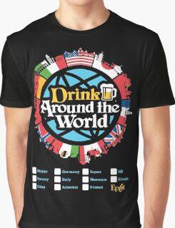 Drink Around the World - EPCOT Checklist v1 Graphic T-Shirt