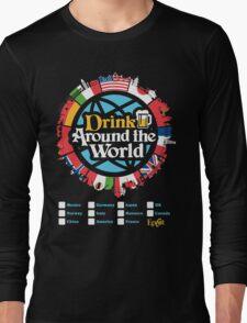 Drink Around the World - EPCOT Checklist v1 Long Sleeve T-Shirt