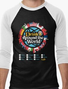 Drink Around the World - EPCOT Checklist v1 Men's Baseball ¾ T-Shirt