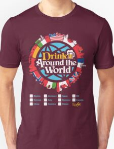 Drink Around the World - EPCOT Checklist v1 Unisex T-Shirt