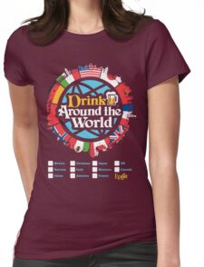 Drink Around the World - EPCOT Checklist v1 Womens Fitted T-Shirt