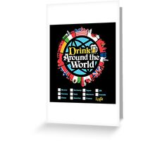 Drink Around the World - EPCOT Checklist v1 Greeting Card