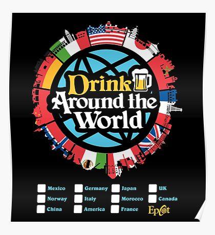 Drink Around the World - EPCOT Checklist v1 Poster