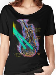 Nikola Tesla Into Battle  riding anthropomorphic Light Bulb Women's Relaxed Fit T-Shirt