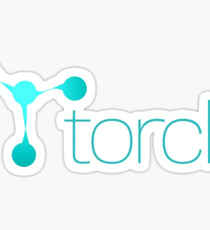 Torch Logo Horizontal Sticker