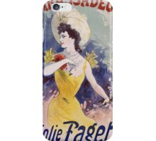 Jules Cheret - Ambassadeurs La Jolie Fagette Poster. Dancer painting: dance, ballet, dancing woman, ballerina, tutu, femine, women, dancer, disco, dancers, girls iPhone Case/Skin