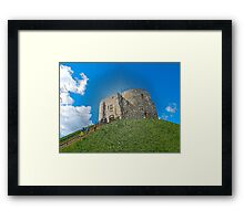 York, Cliffords tower in plastic Framed Print