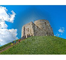 York, Cliffords tower in plastic Photographic Print