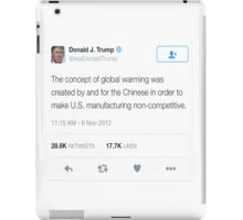 Donald Trump- Global Warming  iPad Case/Skin