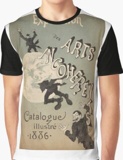 Jules Cheret - Cover Illustration For Exposition Des Arts Incoherents. People portrait: party, man, people, family, male, peasants, crowd, romance,  men, city, home society Graphic T-Shirt