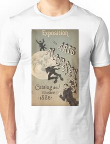 Jules Cheret - Cover Illustration For Exposition Des Arts Incoherents. People portrait: party, man, people, family, male, peasants, crowd, romance,  men, city, home society Unisex T-Shirt