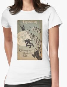 Jules Cheret - Cover Illustration For Exposition Des Arts Incoherents. People portrait: party, man, people, family, male, peasants, crowd, romance,  men, city, home society Womens Fitted T-Shirt