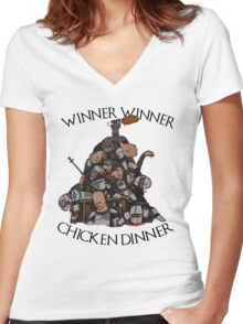 """Game of Thrones- """"Sweet Chicken"""" Women's Fitted V-Neck T-Shirt"""