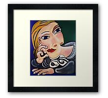 PICASSO PAINTING BY NORA The  Thinker  Framed Print