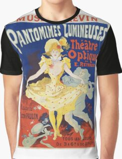 Jules Cheret - French Poster For Early Motion Picture Pantommes Lumineuses. Dancer painting: dance, ballet, dancing woman, ballerina, tutu, femine, women, dancer, disco, dancers, girls Graphic T-Shirt