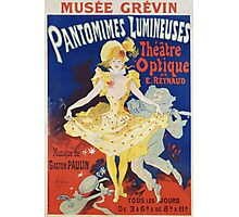 Jules Cheret - French Poster For Early Motion Picture Pantommes Lumineuses. Dancer painting: dance, ballet, dancing woman, ballerina, tutu, femine, women, dancer, disco, dancers, girls Photographic Print