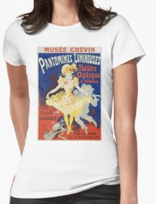 Jules Cheret - French Poster For Early Motion Picture Pantommes Lumineuses. Dancer painting: dance, ballet, dancing woman, ballerina, tutu, femine, women, dancer, disco, dancers, girls Womens Fitted T-Shirt