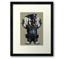 BADGER POLICE Framed Print