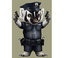 BADGER POLICE Photographic Print