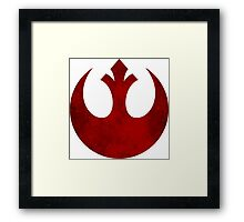 Rebel Alliance vintage logo Framed Print