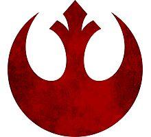 Rebel Alliance vintage logo Photographic Print
