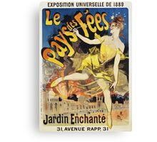 Jules Cheret - Le Pays Des Fees Poster. Dancer painting: dance, ballet, dancing woman, ballerina, tutu, femine, women, dancer, disco, dancers, girls Canvas Print