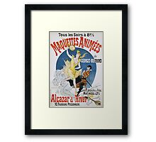 Jules Cheret - Maquettes Animees De Georges Bertrand Poster. Dancer painting: dance, ballet, dancing woman, ballerina, tutu, femine, women, dancer, disco, dancers, girls Framed Print