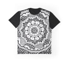 Zendala - Zentangle Mandala with Flower elements Graphic T-Shirt