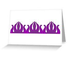 Purple Tentacles Greeting Card