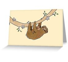Mama and Baby Sloth Greeting Card