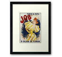 Jules Cheret - O  Dejar De Fumar Cigar Advertisement Poster. Dancer painting: dance, ballet, dancing woman, ballerina, tutu, femine, women, dancer, disco, dancers, girls Framed Print