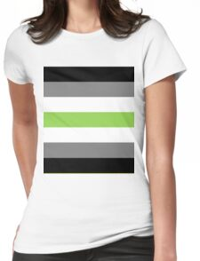 Agender flag Womens Fitted T-Shirt