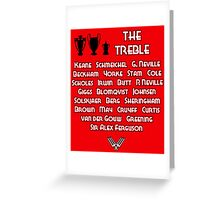 Manchester United 1999 Treble Winners Greeting Card