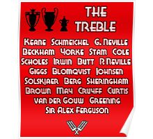 Manchester United 1999 Treble Winners Poster