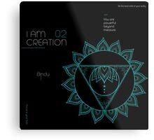 I AM CREATION Metal Print