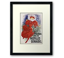 Jules Cheret - Pastilles Geraudel Poster. Dancer painting: dance, ballet, dancing woman, ballerina, tutu, femine, women, dancer, disco, dancers, girls Framed Print