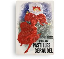 Jules Cheret - Pastilles Geraudel Poster. Dancer painting: dance, ballet, dancing woman, ballerina, tutu, femine, women, dancer, disco, dancers, girls Canvas Print