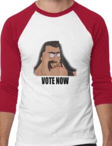 Voteman!! Men's Baseball ¾ T-Shirt